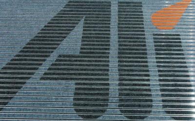 wycieraczka z logo