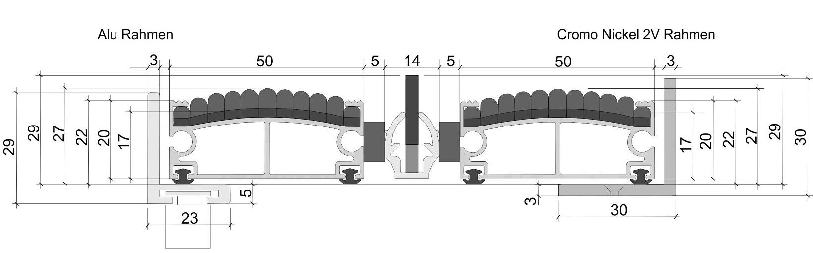 Premium Rips und Bürste 1-1 Höhe 29mm